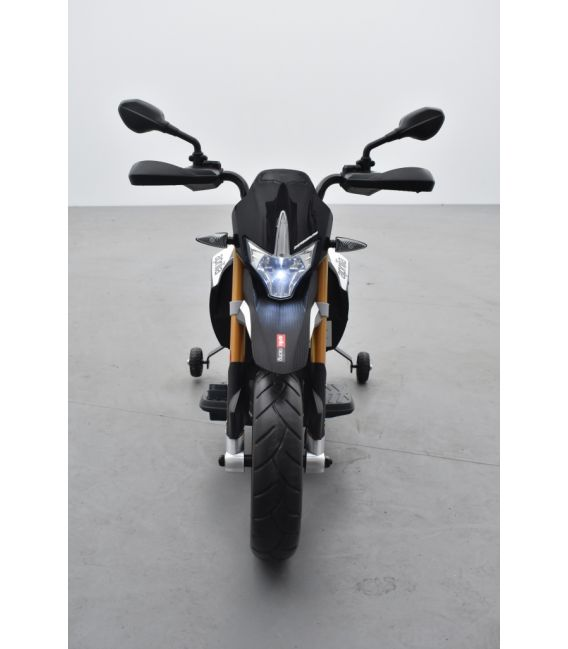 Aprilia Dorsoduro 900 Noir/Rouge, moto électrique pour enfant 12 volts