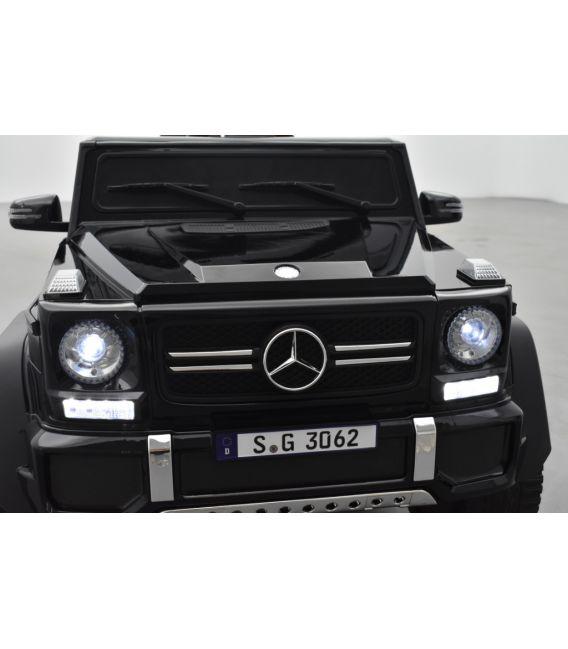 Mercedes MAYBACH G650-S Noir Métallisée, voiture électrique pour enfant, 12 Volts - 2 moteurs