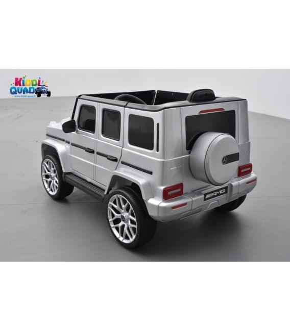 Mercedes G63 AMG Gris Métallisée, Bluetooth, voiture électrique pour enfant, 12 Volts - 2 moteurs