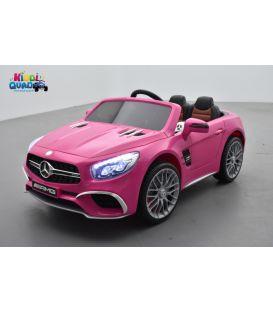 Mercedes SL65 Rose, voiture électrique pour enfant, 12Volts - 2 moteurs
