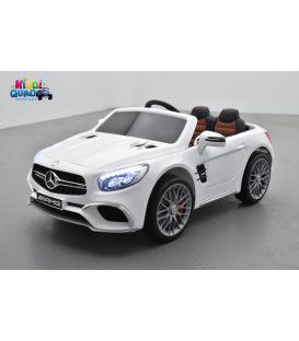 Mercedes SL65 Blanc, voiture électrique pour enfant, 12Volts - 2 moteurs