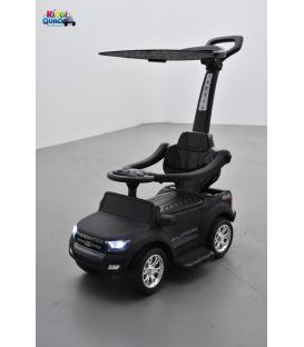 Trotteur voiture Ford Ranger noir mat, porteur pousseur ombrelle pour enfant