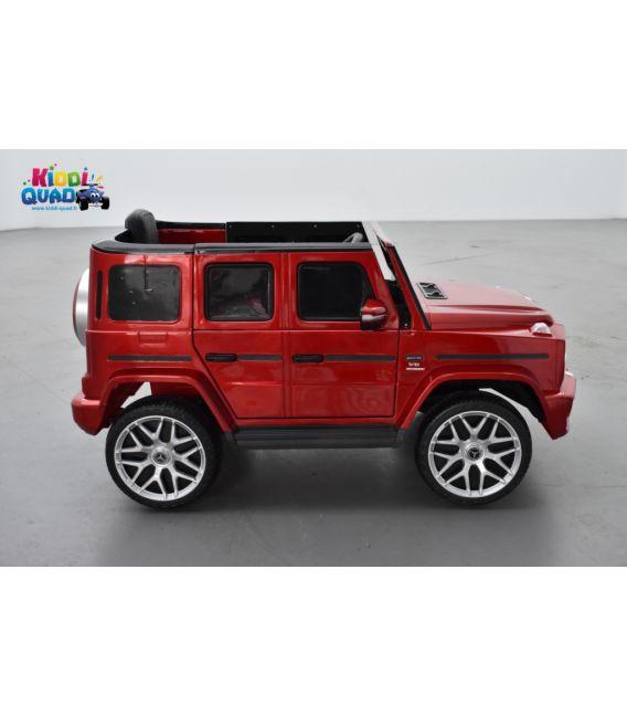Mercedes G63 AMG rouge Métallisé, Bluetooth, voiture électrique pour enfant, 12 Volts - 2 moteurs