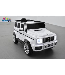 Mercedes G63 AMG Blanc, Bluetooth, voiture électrique pour enfant, 12 Volts - 2 moteurs