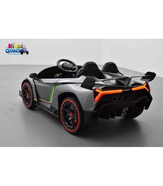 Lamborghini Veneno 12 Volts grise, voiture électrique enfant 12V - 7AH, 2 moteurs
