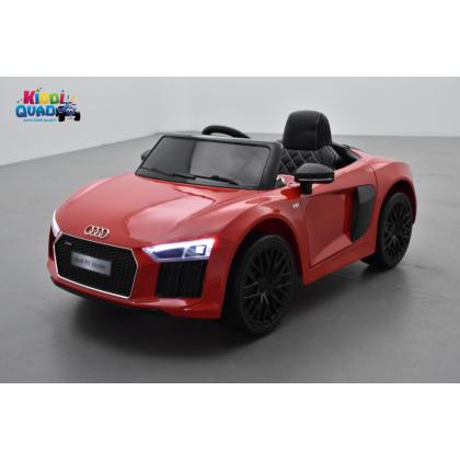 Audi R8 Spyder S Tronic 12 volts Rouge, voiture électrique enfant télécommande parentale 2.4 GHZ, 12 volts, 2 moteurs