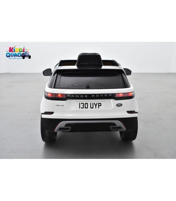 Land Rover Velar Blanc, voiture électrique enfant télécommande parentale, 12 Volts - 2 moteurs