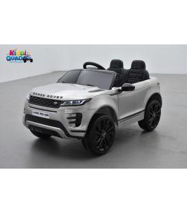 Range Rover Evoque Gris métallisé, voiture électrique pour enfant 12 Volts - 2 moteurs