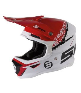 Casque cross enfant Shot moto quad furious kid red white glossy homologué ECE R22-05
