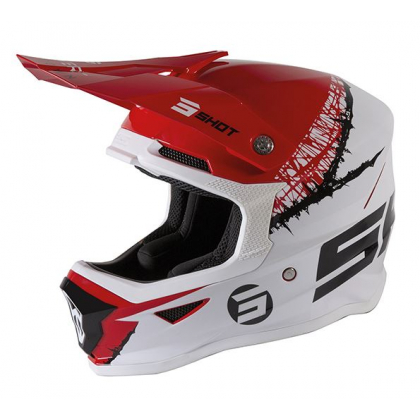 Casque cross enfant Shot moto quad furious kid red white glossy homologué ECE R22-05