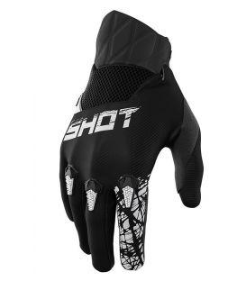 Gants cross enfant Shot Slam Noir moto quad