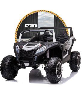 Buggy Big Horn 24 Volts 7Ah blanc, 4 moteurs de 60 watts, buggy deux places, buggy électrique enfant