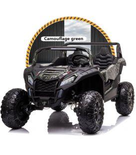 Buggy Big Horn 24 Volts 7Ah camouflage, 4 moteurs de 60 watts, buggy deux places, buggy électrique enfant