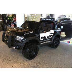 Destockage Ford Ranger Raptor Police Noir Métallisée, voiture électrique enfant 12V 10Ah, 2 moteurs