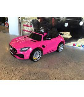 Destockage Mercedes AMG GT R  Rose, voiture électrique pour enfant, 12Volts - 2 moteurs