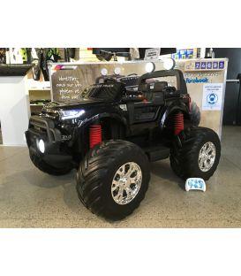 Destockage Monster Truck 2 x 12V Ford Ranger Noir Métallisée, voiture électrique enfant 12 volts - 4 moteurs