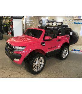Destockage Ford Ranger 2 x 12V Phase 2 Rose métallisé avec télécommande parentale 2.4 GHz, voiture électrique pour enfant 2 plac
