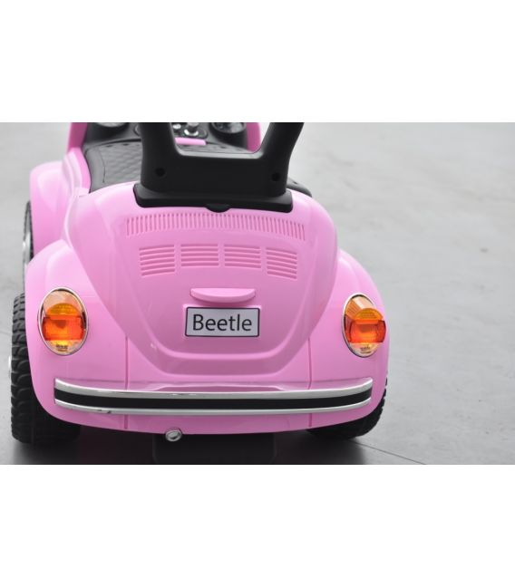 """Trotteur voiture Volkswagen Coccinelle """"Beetle"""" Rose, porteur pousseur voiture"""