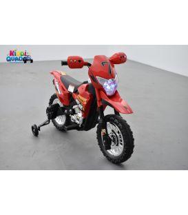 Moto Cross Rouge 6 volts, moto électrique pour enfant 6 volts