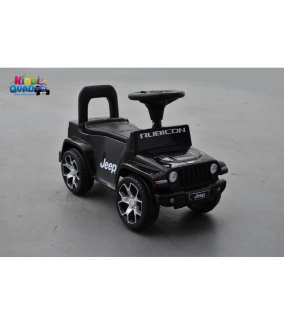 Trotteur Jeep WRANGLER Rubicon noir, porteur pousseur voiture