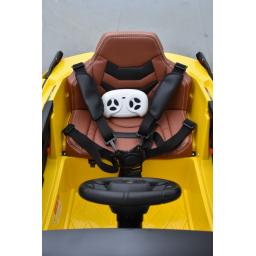 Lamborghini SIAN 12 Volts giallo corona, voiture électrique enfant 12V - 7AH, 2 moteurs