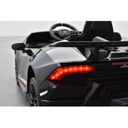 Lamborghini Huracan 12 Volts nero, voiture électrique enfant 12V - 7AH, 2 moteurs