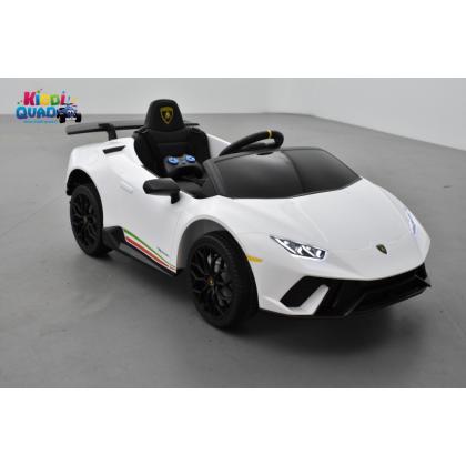 Lamborghini Huracan 12 Volts blanco, voiture électrique enfant 12V - 7AH, 2 moteurs