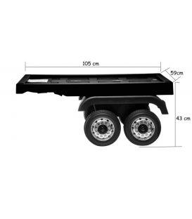 Remorque plateau camion Actros de chez Mercedes, remorque de camion électrique pour enfant