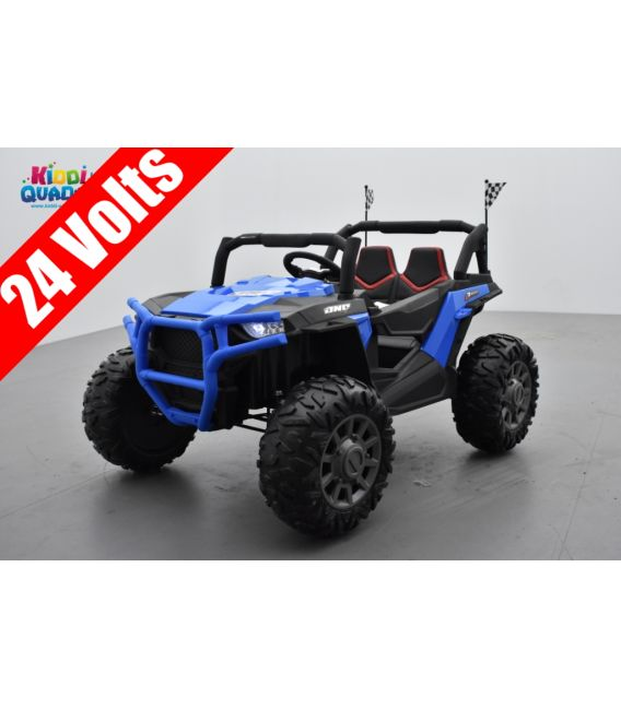 Beach Buggy 24 Volts électrique enfant bleu, buggy électrique enfant 24 Volts 7 Ah, 2 moteurs