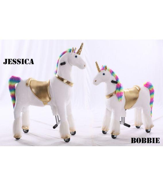 Kids-Horse Licorne, cheval à roulettes enfant 3 à 6 ans
