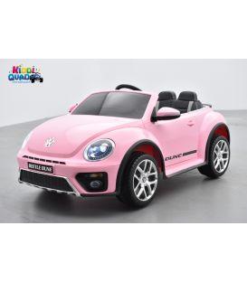 """Volkswagen Coccinelle Dune """"Beetle"""" Rose, 12 volts, voiture électrique pour enfant"""