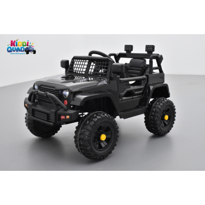 4X4 Jeep Noir, véhicule électrique enfant, 12V - 2 moteurs