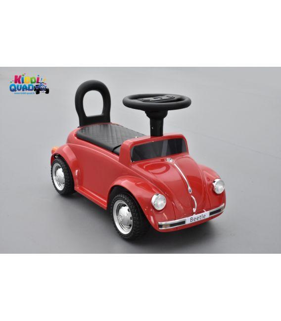 """Trotteur voiture Volkswagen Coccinelle """"Beetle"""" Rouge, porteur pousseur voiture"""
