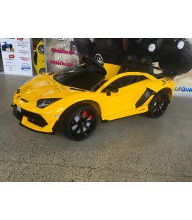 Destockage Lamborghini Aventador SVJ 12 Volts Jaune, voiture électrique enfant 12V - 7AH, 2 moteurs