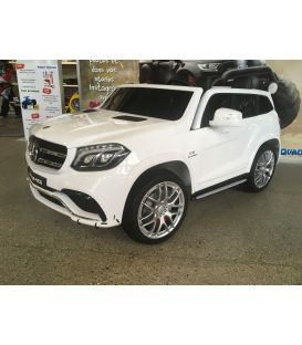Destockage Mercedes GLS 63 4Matic 2 x 12V AMG Blanc, voiture électrique pour enfant, 12Volts - 4 moteurs