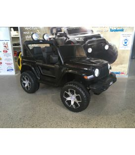 Destockage 4X4 Jeep Wrangler Rubicon Noir avec Ecran MP4, véhicule électrique enfant, 12V - 2 moteurs