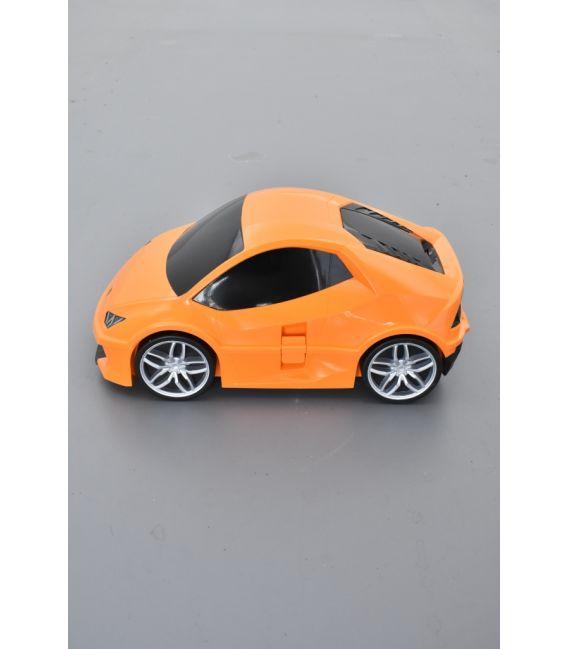 Valise voiture enfant sport orange, valisette forme voiture bébé