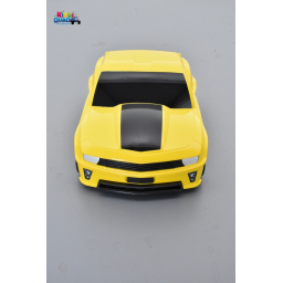 Valise voiture enfant muscle car jaune, valisette forme voiture bébé