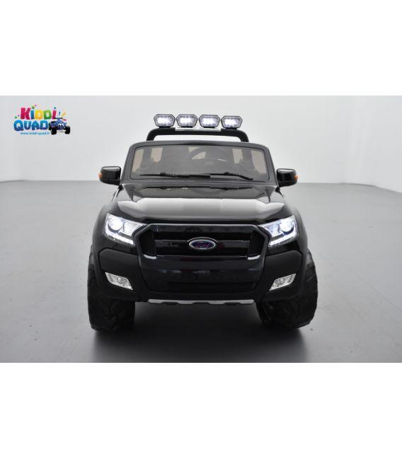 Ford Ranger 2 x 12V Phase 2 Noir Shadow métallisé avec télécommande parentale 2.4 GHz, voiture électrique pour enfant 2 places,