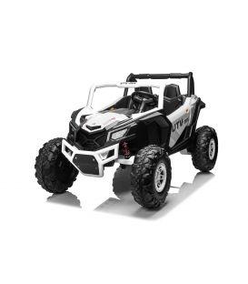 Buggy Scorpion 24 Volts 7Ah blanc, 4 moteurs de 60 watts, buggy deux places, buggy électrique enfant