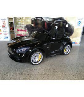 Destockage Mercedes AMG GT R 2 places Noir, voiture électrique pour enfant, 12 volts 10 Ah