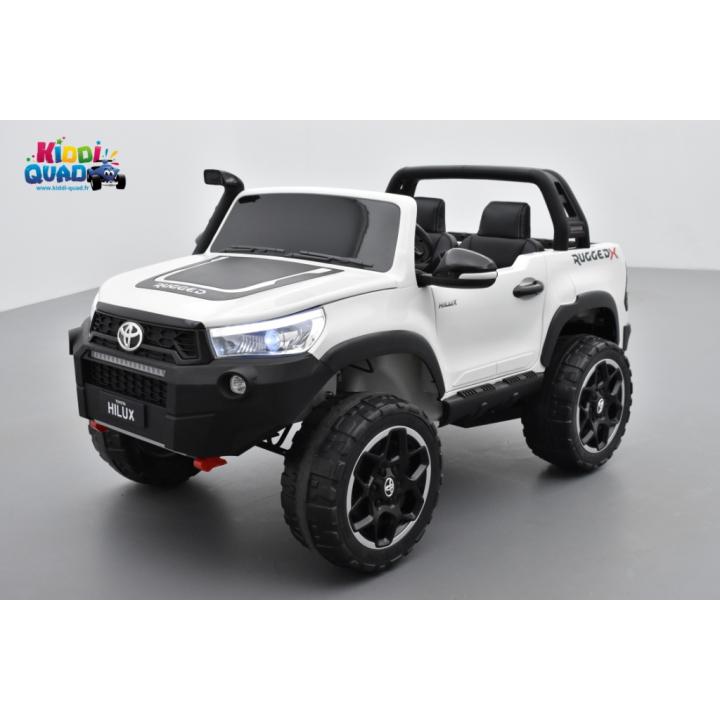 Toyota Hilux blanc 24 Volts électrique pour enfant écran mp4, 4x4 électrique enfant 2 places
