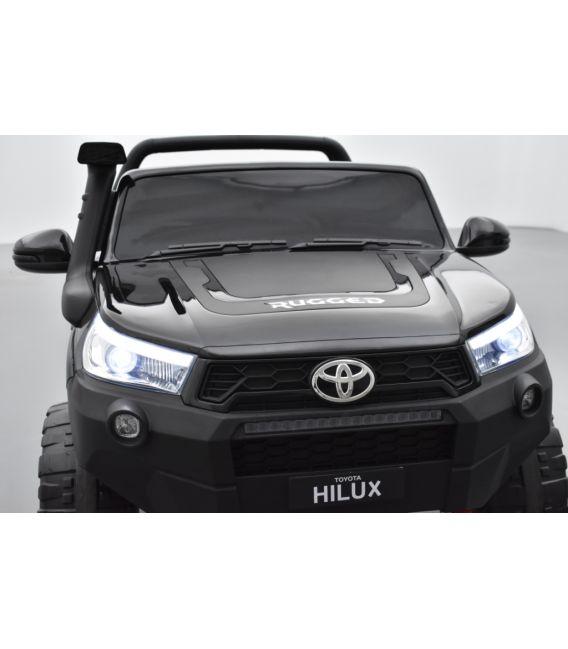 Toyota Hilux noir 24 Volts électrique pour enfant écran mp4, 4x4 électrique enfant 2 places
