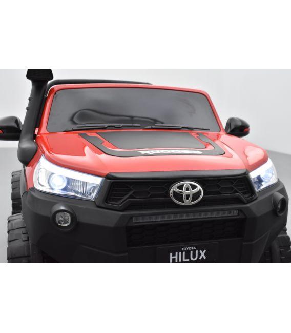 Toyota Hilux rouge 24 Volts électrique pour enfant écran mp4, 4x4 électrique enfant 2 places