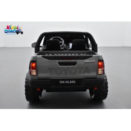 Toyota Hilux gris 24 Volts électrique pour enfant écran mp4, 4x4 électrique enfant 2 places