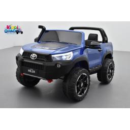 Toyota Hilux bleu 24 Volts électrique pour enfant écran mp4, 4x4 électrique enfant 2 places