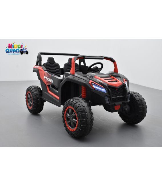 Buggy Big Horn 24 Volts 7Ah rouge, 4 moteurs de 60 watts, buggy deux places, buggy électrique enfant