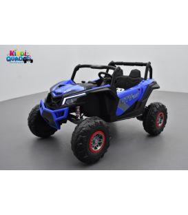 Buggy Scorpion 24 Volts 7Ah bleu, 4 moteurs de 60 watts, buggy deux places, buggy électrique enfant