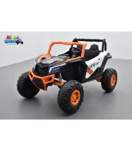 Buggy Scorpion 24 Volts 7Ah orange, 4 moteurs de 60 watts, buggy deux places, buggy électrique enfant