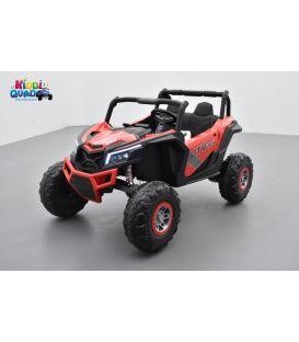 Buggy Scorpion 24 Volts 7Ah rouge, 4 moteurs de 60 watts, buggy deux places, buggy électrique enfant